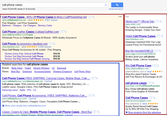 image of Google Search Listings